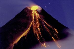 Mayon Volcano, December 2009. Photograph from Wikimedia Commons, by Tryfon Topalidis