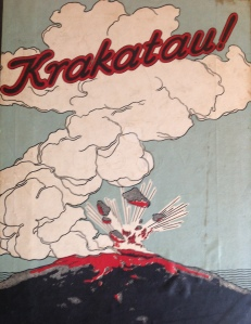 Magazine cover from 1928, from a photo gallery of the renewed eruptions of Anak Krakatau, Java. Photo: David Pyle.