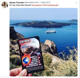 Visiting Santorini with ENV (UEA) Geosciences